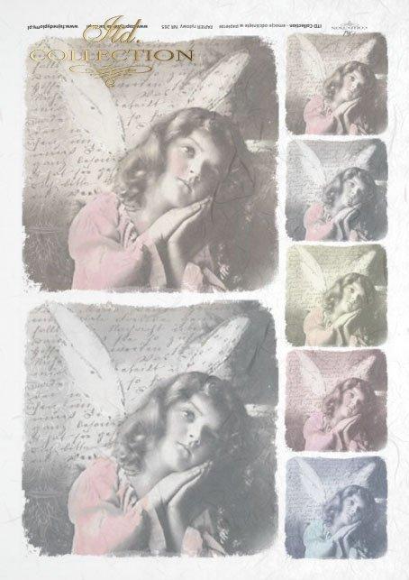 angel, angel, old pictures, children's portrait, children, retro, R265