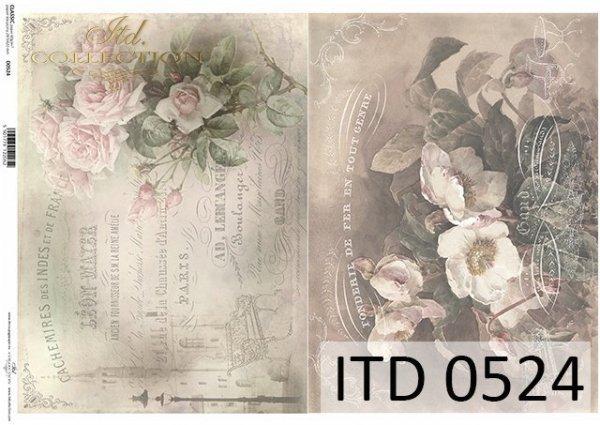 Papier decoupage ITD D0524