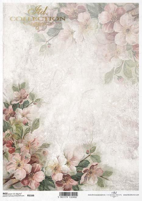 flores de papel decoupage*decoupage Papierblumen