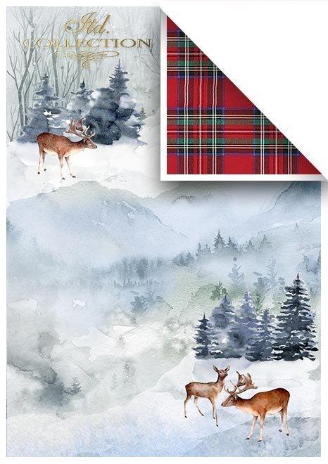 Satz von Scrapbooking-Papieren - wunderbare Weihnachtszeit*Conjunto de papeles de scrapbooking - Maravilloso tiempo de Navidad*Набор бумаг для скрапбукинга - Замечательное Рождество