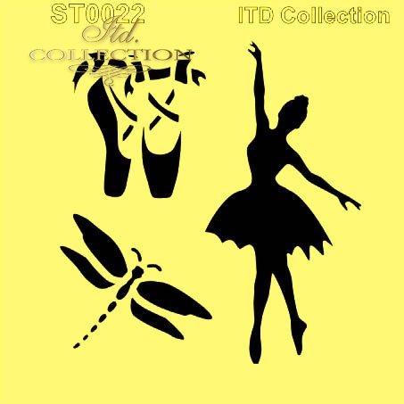 ST0022 - baletnica, ważka, baletki