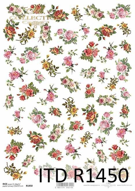 kwiaty, żółte i różowe róże, drobne elementy*flowers, yellow and pink roses, small elements