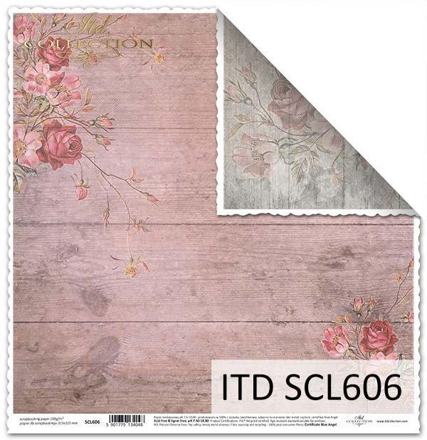papier scrapbooking kwiaty*Paper scrapbooking flowers