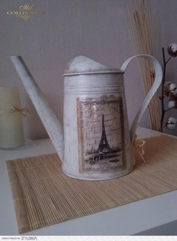 Paris, Eiffel tower, old postcard, hand written, beautiful cities - example 01