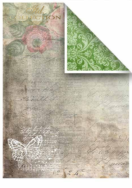 Papiery do scrapbookingu w zestawach - piękne motyle * Papers for scrapbooking in sets - beautiful butterflies