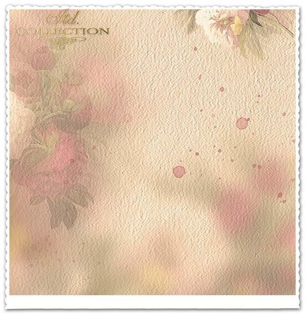 papier do scrapbookingu, kwiaty, Peonie*Paper for scrapbooking, flowers, Peonie