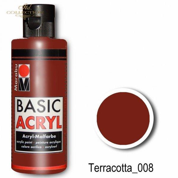 Farba akrylowa Basic Acryl 80 ml Terracotta 008