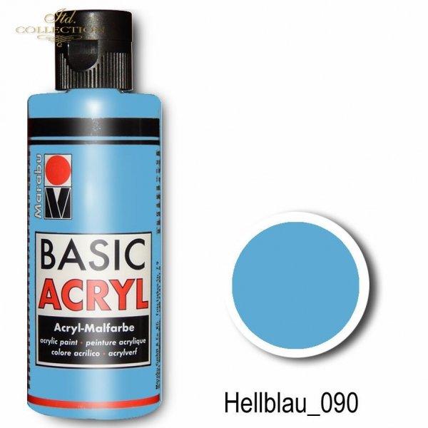 Farba akrylowa Basic Acryl 80 ml Hellblau 090