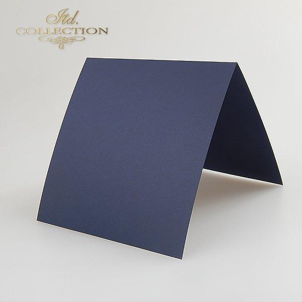 Baza do kartki kolor Granatowy. Format kartki stworzony do koperty 140x140 mm