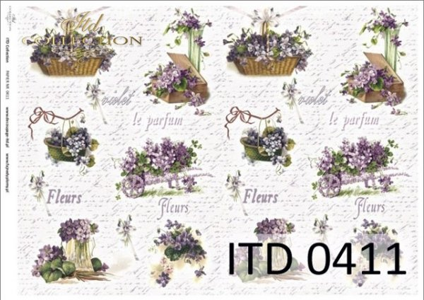 Papier decoupage ITD D0411M
