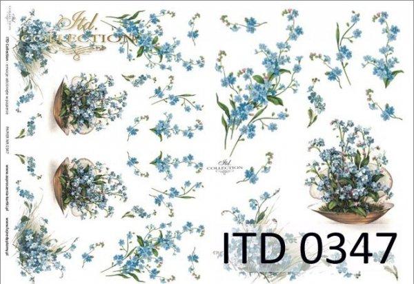 Papier decoupage ITD D0347
