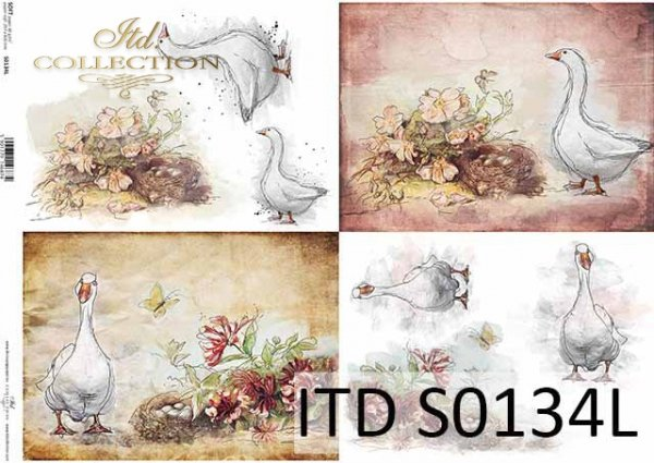 Papier decoupage SOFT ITD S0134L