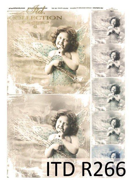 retro, aniołek na starym zdjęciu, anioł, aniołek,dzieci, dziewczynki, portrety dzieci