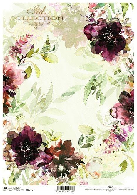 Kolaż z kwiatami, kwiaty, kwiatki