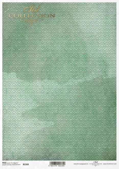Fondo de papel decoupage verde*Grüner Decoupagepapierhintergrund*Зеленый фон в технике декупаж