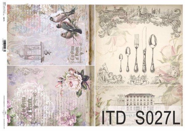 Papier decoupage SOFT ITD S0027L