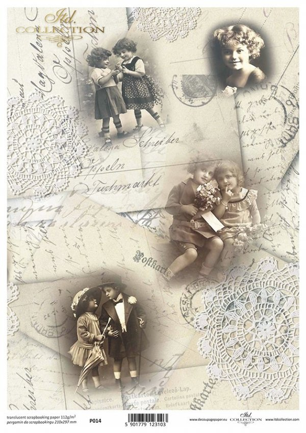 Pergamin do scrapbookingu P0014