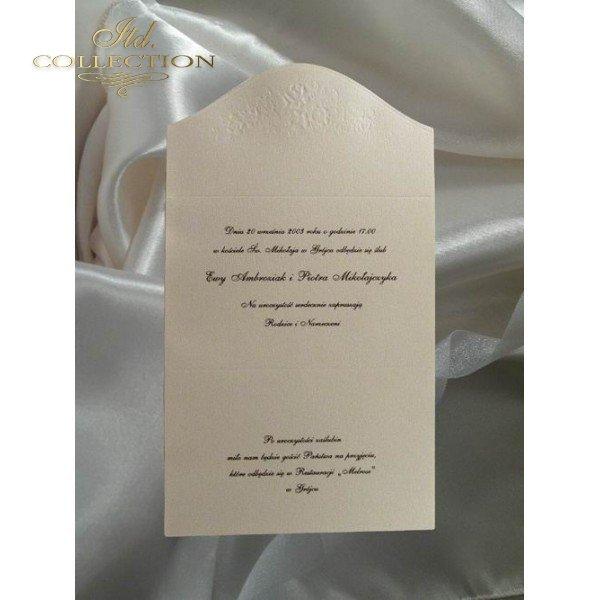 Zaproszenia ślubne / zaproszenie 1204