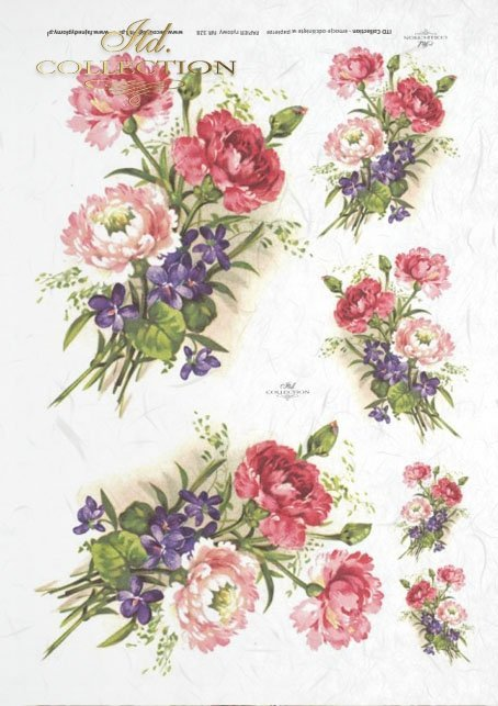 spring, flower, flowers, carnations, violets, bouquets, bouquets, R328
