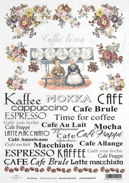inscriptions, Subtitles, coffee time, coffee, coffee beans, Cafe, Kaffee, Mokka, Cafe au Lait, Espresso, macchiato, espresso, time for coffee, flowers, retro, R429