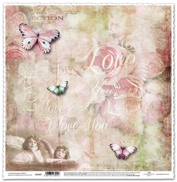 бумага для скрапбукинга, ангелов, бабочек*papel para álbum de recortes, ángeles, mariposas*Papier für das Scrapbooking, Engel, Schmetterlinge
