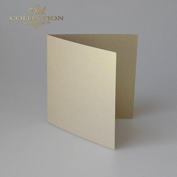 Baza do kartki BDK-029 132x132 mm * ciemnozłota opalizująca