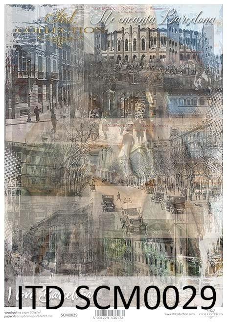 papier scrapbooking stare miasto*scrapbooking paper old city