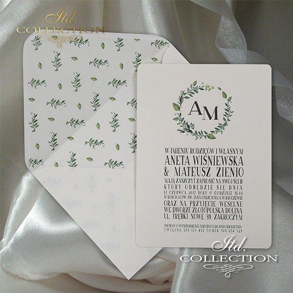 Zaproszenie 2065, zaproszenia ślubne*2065 invitation, wedding invitations