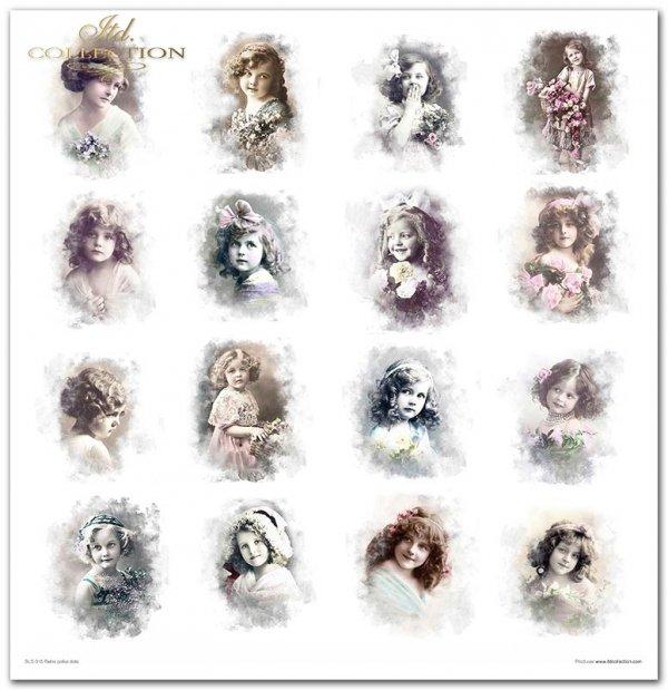 Retro polka dots * Kropki, kropeczki, Retro, Vintage, Shabby Chic, dziewczynki, dzieci