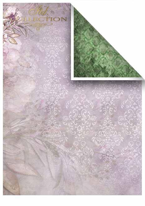 Papiery do scrapbookingu w zestawach - Fioletowa rapsodia * Papeles de Scrapbooking en sets - Purple rhapsody