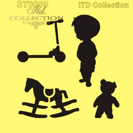 ST0009 - Hulajnoga, misio, chłopczyk, konik na begunach