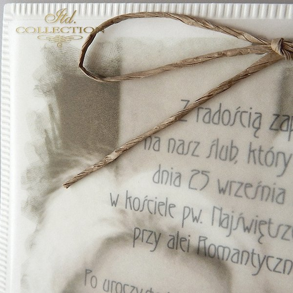 Zaproszenia ślubne / zaproszenie 2038