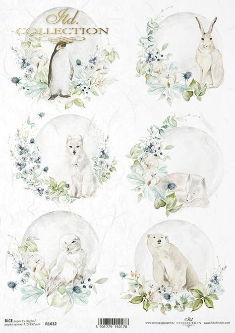 Papier ryżowy - Kraina lodowej porcelany * Rice paper - The land of ice porcelain