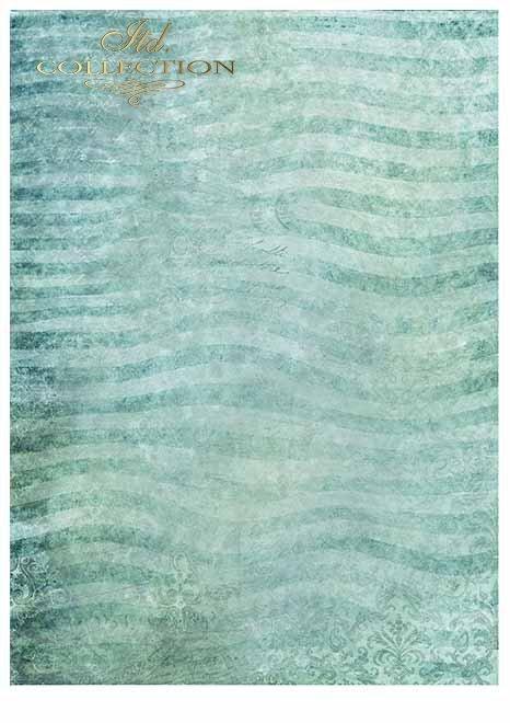 Papiery do scrapbookingu w zestawach - cztery żywioły-woda*Papiere zum Scrapbooking in Sets - vier Elemente - Wasser