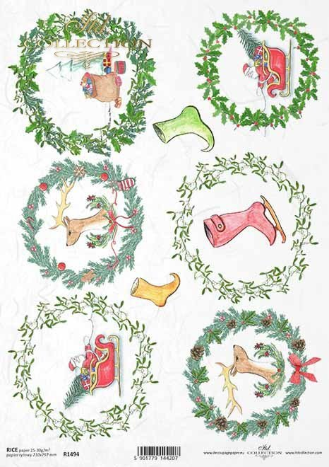 Navidad, guirnaldas navideñas, santa claus, adornos para bolas navideñas, zapatos gnomos*Weihnachten, Weihnachtskränze, Santa Claus, Motive für Weihnachtskugeln, Gnomes Schuhe*Рождество, рождественские венки, Санта-Клаус, мотивы для рождественских шаров,