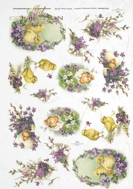 Easter, chickens, flowers, spring, eggs, Easter eggs, violets, R299