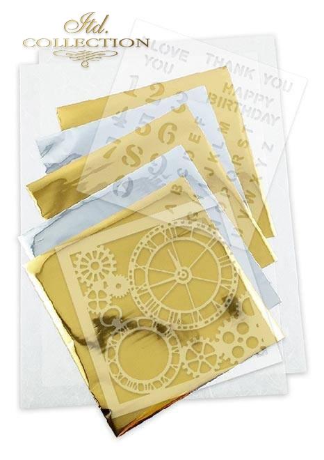 Zestaw kreatywny na papierze ryżowym - Steampunk * Creative set on rice paper - Steampunk