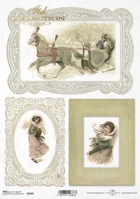 Papier decoupage Weihnachten*Papír decoupage Vánoce*papel decoupage Navidad