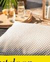 Beżowa poduszka ogrodowa Lizbona 50x30