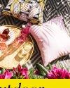 Różowa poduszka ogrodowa 45x45