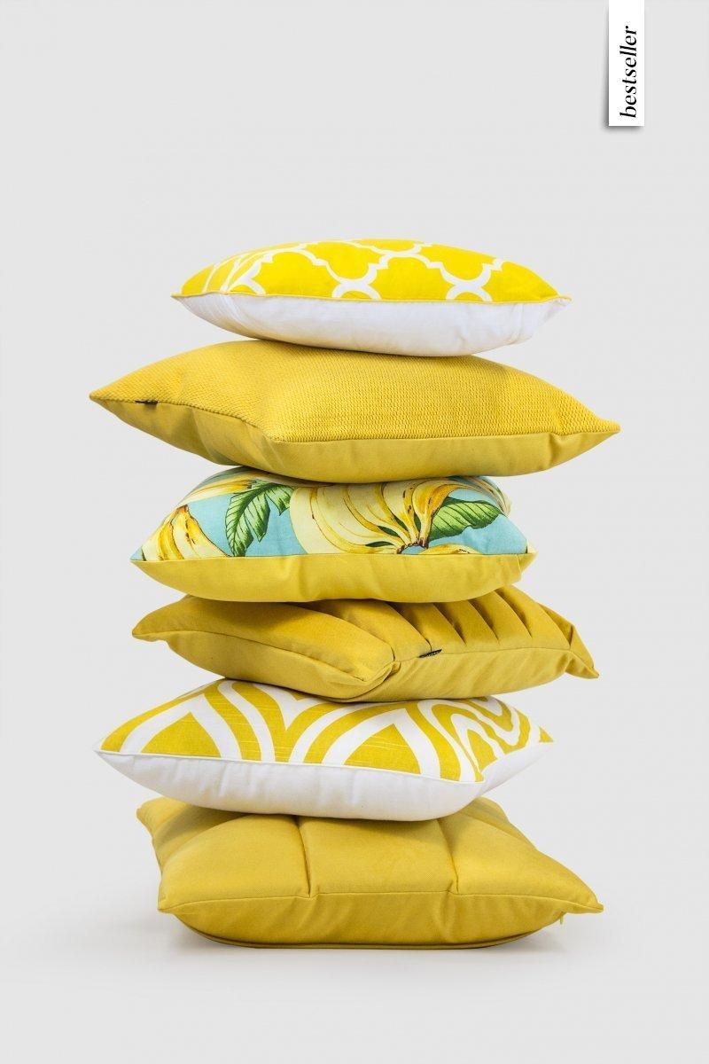 Trix Duża Poduszka Dekoracyjna 50x50 Cm żółta Poduszkowcy