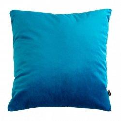 Velvet turkusowa poduszka dekoracyjna 45x45