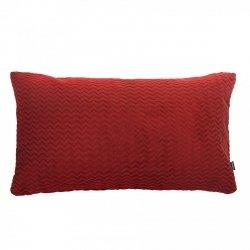 Chevron czerwona poduszka dekoracyjna 50x30