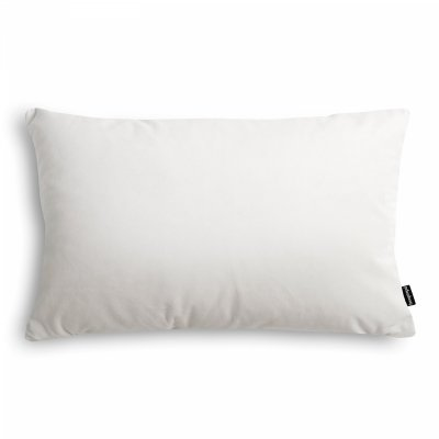 Velvet biała poduszka dekoracyjna 50x30