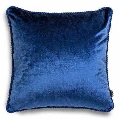 Granatowa poduszka dekoracyjna Glamour
