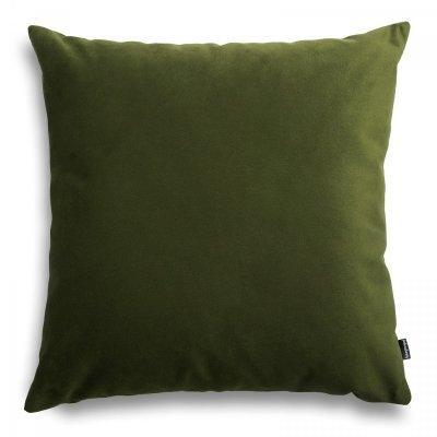 Pram oliwkowa welurowa poduszka dekoracyjna 45x45 cm