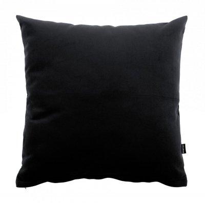 Pram Czarna welurowa poduszka dekoracyjna 45x45 cm