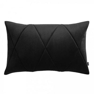 Touch poduszka dekoracyjna czarna 60x40 MOODI