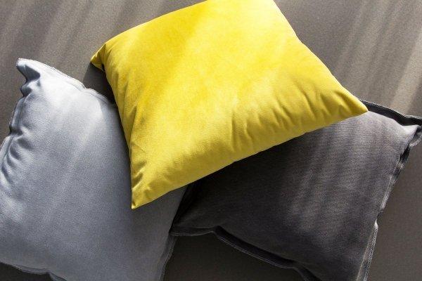 Loft szara poduszka dekoracyjna 45x45