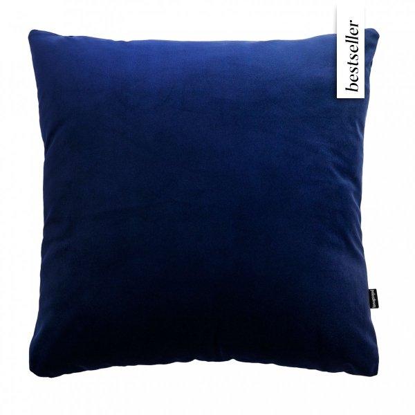 Velvet granatowy poduszka dekoracyjna 45x45